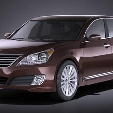 Hyundai Equus 2016 VRAY 3D Model