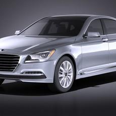Hyundai Genesis 2016 VRAY 3D Model
