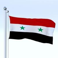 Animated Syria Flag 3D Model