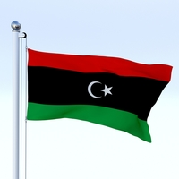 Animated Libya Flag 3D Model