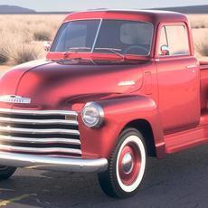 Chevrolet Pickup 1950 DesertStudio 3D Model