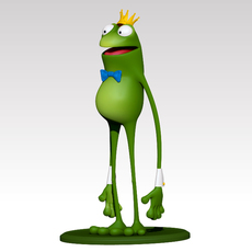 Frog Cartoon 3D Model