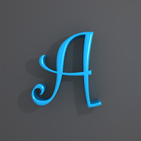 Letters alphabet cartoon 3D Model