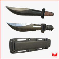 Kabar Knife Pack w/ Sheath 3D Model