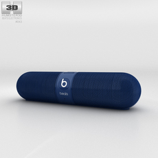 Beats Pill 2.0 Wireless Speaker Blue 3D Model