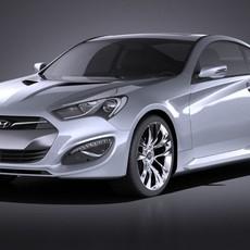 Hyundai Genesis Coupe 2016 VRAY 3D Model