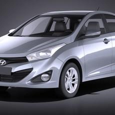 Hyundai HB20S 2015 VRAY 3D Model