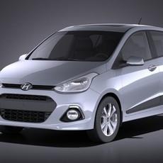 Hyundai i10 2016 VRAY 3D Model