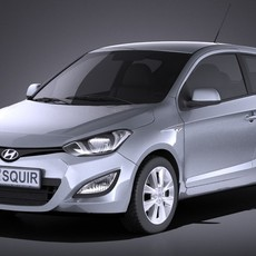 Hyundai i20 3door 2014 VRAY 3D Model