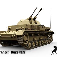 FlakPanzer IV Kugelblitz 3D Model