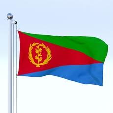 Animated Eritrea Flag 3D Model