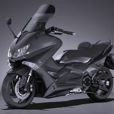 Yamaha TMAX 2017 3D Model