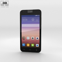 Huawei Ascend Y550 White Phone 3D Model