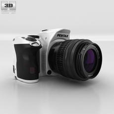 Pentax K-30 White Camera 3D Model