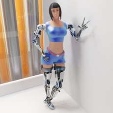 Woman cyborg 001 3D Model