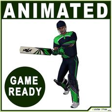 Cricket Batter 14366 tris 3D Model