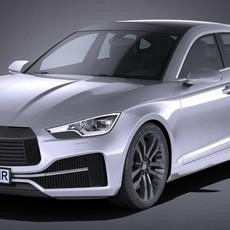 Generic Sedan 2017 3D Model