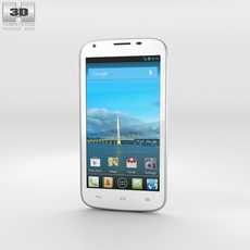 Huawei Ascend Y600 White Phone 3D Model