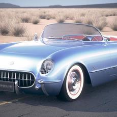 Chevrolet Corvette 1954 3D Model