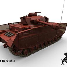 Panzer IV  Ausf. J 3D Model