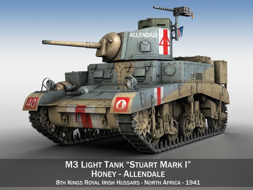 M3 Light Tank Honey - Allendale 3D Model