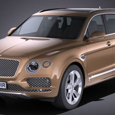 HQ Lowpoly Bentley Bentayga 2017 3D Model