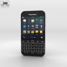 BlackBerry Classic Black 3D Model