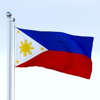 Animated Philippines Flag 3D Model