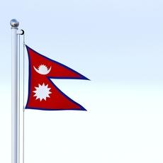Animated Nepal Flag 3D Model
