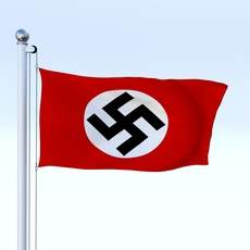 Animated Nazi Germany Flag 3D Model