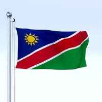 Animated Namibia Flag 3D Model
