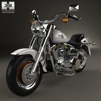 Harley-Davidson FLSTF Fat Boy 1990 motorcycle 3D Model
