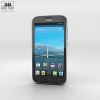 Huawei Ascend Y600 Black Phone 3D Model