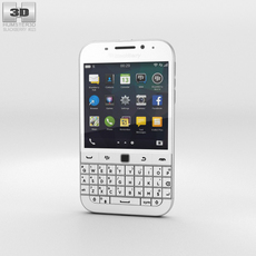 BlackBerry Classic White Phone 3D Model
