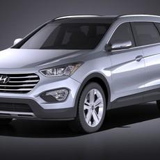 Hyundai Santa Fe 2015 VRAY 3D Model