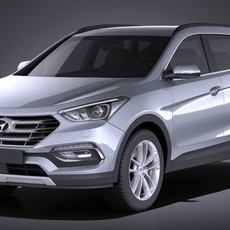 Hyundai SantaFe 2017 VRAY 3D Model