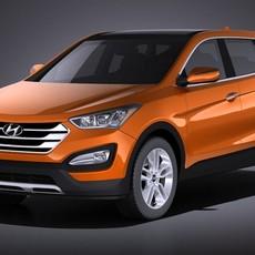 Hyundai Santa Fe Sport 2015 VRAY 3D Model