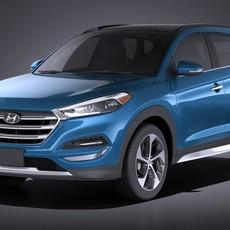 Hyundai Tucson 2017 VRAY 3D Model