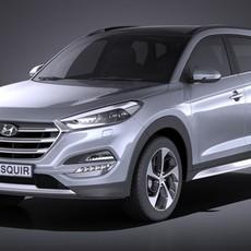 Hyundai Tucson EU-Version 2017 VRAY 3D Model
