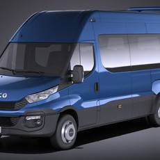 Iveco Daily Minibus 2017 VRAY 3D Model