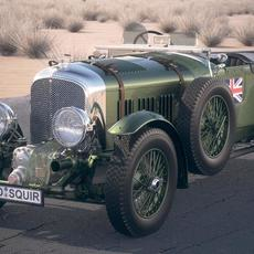 Bentley 4,5 litre Blower 1929 desert studio 3D Model