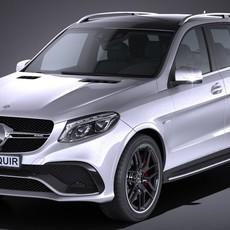 Mercedes AMG GLE63s wagon 2017 3D Model