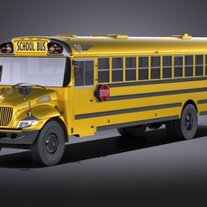 IC CE Series Schoolbus 2017 VRAY 3D Model