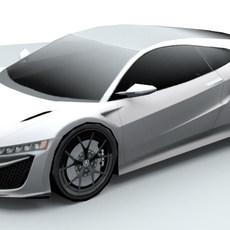 Acura NSX 2016 lowpoly 3D Model