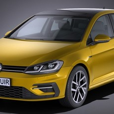 Volkswagen Golf R 2017 3D Model