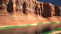 Canyon with river 3D Model
