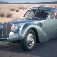 Bugatti Type 57SC Atlantic 1938 DesertStudio 3D Model