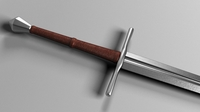 German longsword 3D Model