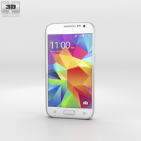Samsung Galaxy Core Prime White Phone 3D Model