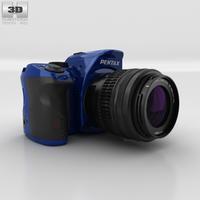 Pentax K-30 Blue Camera 3D Model
